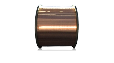 Round wires of copper and copper alloys